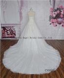 Garganta elegante vestidos Handmade de Quinceanera do laço do vestido de esfera/casamento