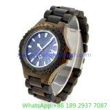 高級な木製の腕時計、水晶腕時計(HLJA-15162)