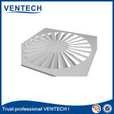 Diffusore bianco dell'aria di turbinio di Sqaure di colore dei cunicoli di ventilazione di HVAC per uso di ventilazione