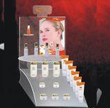 Acrílico, soporte de exhibición cosmético de acrílico material de /PMMA del lucite
