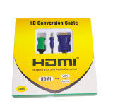 HDMI에 VGA+Audio 3.5mm Cable (2m, 3m, 선택 5m, YL-C388)