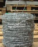 電流を通されてまたはPVCは有刺鉄線の製造に塗った