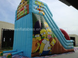 子供のゲームの屋外の運動場の販売のための巨大で膨脹可能な子供の漫画のスライド