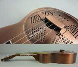 Fournisseur de certificat de BV/SGS---Ukulele en laiton de résonnateur de concert de corps de vente de la Chine Aiersi de fini chaud d'en cuivre (Resophonic) avec des chaînes de caractères d'Aquila