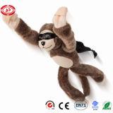 Jouet criard drôle d'enfants animaux de poulet de singe de peluche de vol