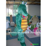 Traje animal da mascote do crocodilo