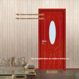 Doo de madeira interior, porta de vidro do PVC, portas, quadro, indicador