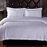 100% coton Jacquard Quality White Bed Sheet Bedding Set