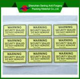 Breekbaar Etiket/Etiket Van uitstekende kwaliteit van de Eierschaal van de Waarschuwing van de Douane het Zelfklevende Verwijderbare