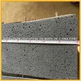 Хонингованный темный серый/черный базальт с отверстиями для плиток настила, плиток базальта