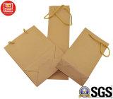 De milieuvriendelijke Zak van het Document van Kraftpapier, het Winkelen Zak, Boodschappentas, de PromotieZak van het Document