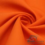 agua de 75D 260t y de la ropa de deportes tela tejida chaqueta al aire libre Viento-Resistente 100% de la pongis del poliester del telar jacquar abajo (E017)