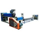 Les granules réutilisés à deux étages de HDPE réutilisent les granules en plastique effectuant le prix de machine