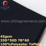Polyester-Twill-Rohseide-färbendes Gewebe für Hemd der Männer (GLLML325)