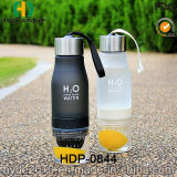 Пластичная бутылка воды Infuser с крышкой нержавеющей стали, пластичной бутылкой вливания плодоовощ (HDP-0844)