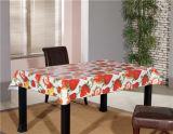 熱い販売の安い白のPVCによって印刷される不透明なテーブルクロス