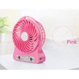 Ventilateur rechargeable portatif de batterie du bureau USB 18650 d'éclairage LED