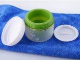 Frasco geado verde dobro do creme do recipiente dos cosméticos do plástico 50g dos PP (PPC-PCJ-004)