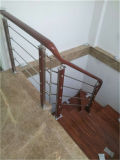304 스테인리스 관 착용 나무로 되는 계단 손잡이지주