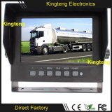 7inch o quadrilátero 4CH Waterproof o monitor Kt-620 da tela do carro TFT LCD