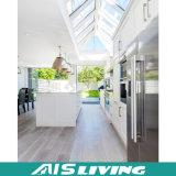 Muebles blancos de la cabina de cocina de la laca del estilo europeo popular (AIS-K856)