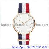 人15201のための最上質のステンレス鋼の水晶腕時計のナイロンバンド日本Movet