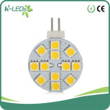 bulbos do diodo emissor de luz do Bi-Pin de 12SMD5050 DC10-30V G4