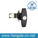 Fechamento da came do punho do gabinete T da liga do zinco com chave (YH9676)