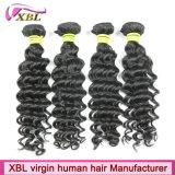 Cheveux brésiliens de Remy de Vierge de vague profonde de prix usine