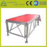 Étape flexible réglable d'aluminium d'événement de contre-plaqué de matériel d'étape de performance d'activité