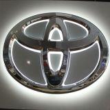 Acrylchrom, das Backlit LED-Auto-Firmenzeichen bekanntmacht