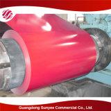 El color de PPGI cubrió la bobina de acero galvanizada sumergida caliente