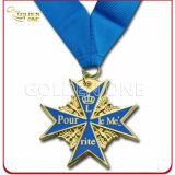 熱い販売安いカスタム金によってめっきされる軍メダルバッジ