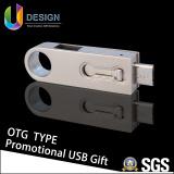 Poner su propia insignia en su mecanismo impulsor promocional del flash del USB del disco del USB de Hotest OTG del regalo (UL-OTG001)