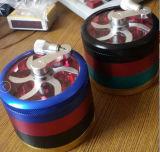 Farben-Kasten 4 Schicht-Aluminium, das gebrochenen Zigaretten-Feuerzeug-rauchenden Tabak reibt