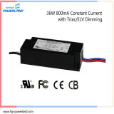 excitador atual constante do diodo emissor de luz do TRIAC de 36W 800mA/Elv Dimmable