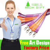Presente promocional Customized Heat Transfer Printing Polyester Lanyard