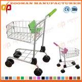 Trole do carro de compra do supermercado da criança do metal do fio nas rodas (Zht170)