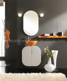 Vanità italiana bianca della stanza da bagno del PVC di stile di raduno arancione