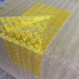 Style y Tamper autos-adhesivo Evident Security Warranty Carton Sealing Tape