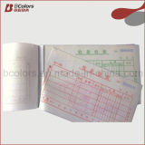 Livro de fatura do OEM, recibo Bookprinting do papel químico com tempo de entrega rápido