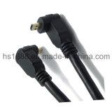 Тип покрынный золотом прямоугольный Micro HDMI кабель d