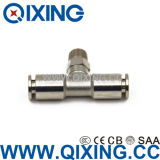 Ce 609 Tee Tipo de latón / acero inoxidable Push to Connect Fittings