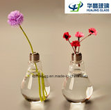 Florero Shaped casero creativo del vidrio de la flor del bulbo de lámpara del arte de la decoración