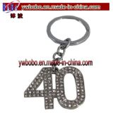 Regalos de Navidad Llavero Diamante 50 Anillo Llavero 50mo Regalo de cumpleaños (G1002B) Clave