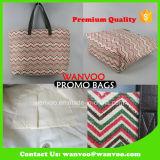 Papel Reciclado Promoción manera de la mujer bolsas de lona de compras