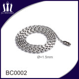 High Quality 1.5mm Stainless Steel Beaded Chain in Color for Sale