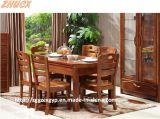 접히는 식탁 나무로 되는 식사하 테이블 나무로 되는 의자 나무로 되는 테이블