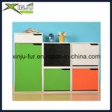 Sapatas gabinete de madeira de 3 da camada colorida com 1 gaveta