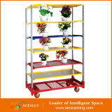 Customed Flower Display Rack Trolley für Home Garden